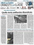 Scuola media di Montesicuro: I RAGAZZI DELLA 3^AM RITROVANO LA LAPIDE DEL PARTIGIANO